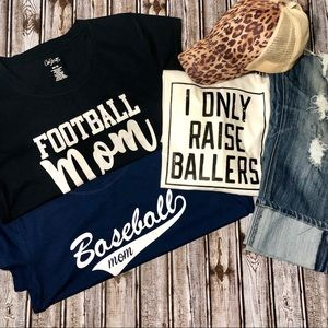 NWOT Bundle of 3-Mom Sports Graphic Tee's